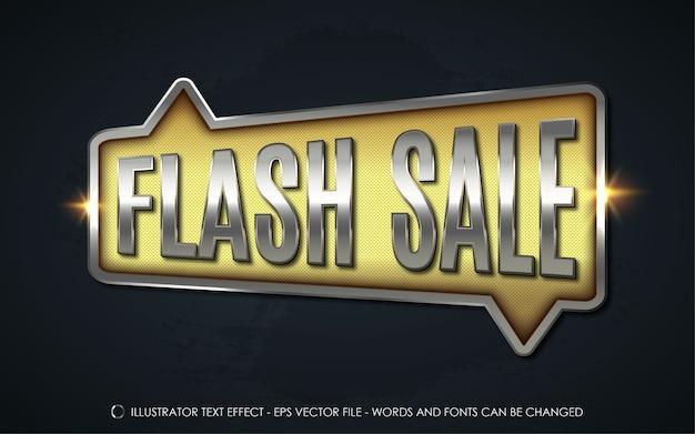 Edytowalny efekt tekstowy ilustracje w stylu sprzedaży flash