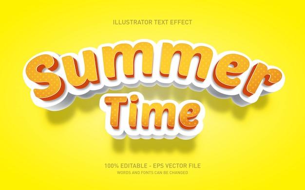 Edytowalny efekt tekstowy, ilustracje w stylu tytułu czasu letniego