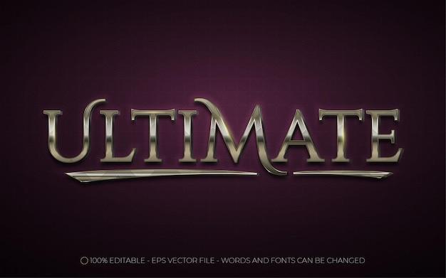 Edytowalny efekt tekstowy, ilustracje w stylu ultimate