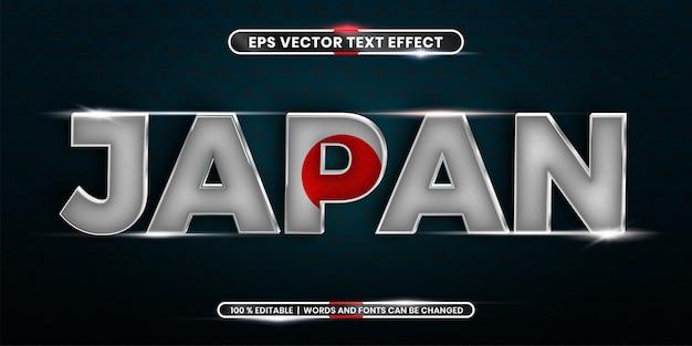 Edytowalny efekt tekstowy - japońskie słowo z flagą kraju