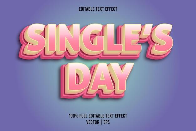 Edytowalny efekt tekstowy jednego dnia w stylu komiksowym w kolorze różowym