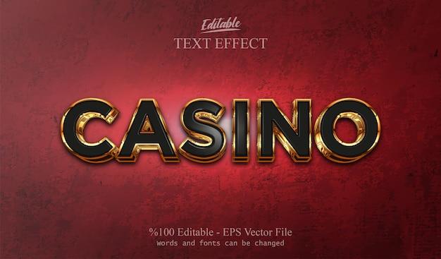 Edytowalny efekt tekstowy kasyno