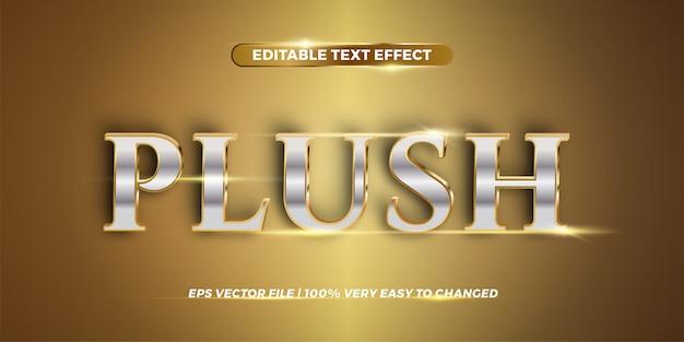Edytowalny efekt tekstowy - koncepcja stylu pluszowe słowo