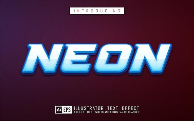Edytowalny efekt tekstowy koncepcja stylu tekstu neonowego
