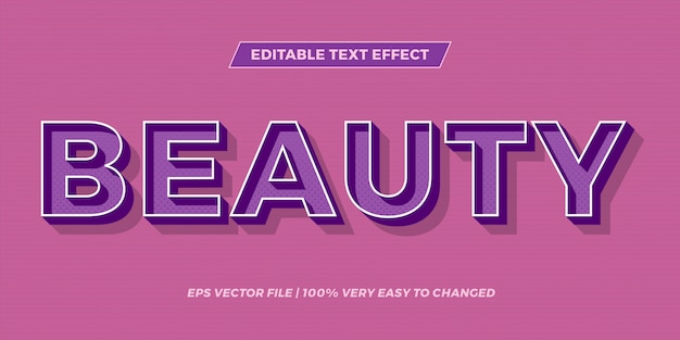 Edytowalny efekt tekstowy - koncepcja stylu tekstu piękna