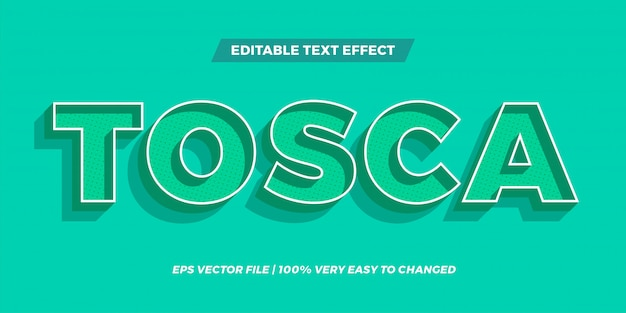 Edytowalny efekt tekstowy - koncepcja stylu tekstu tosca