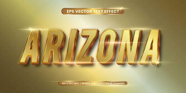 Edytowalny efekt tekstowy - koncepcja stylu złotego tekstu