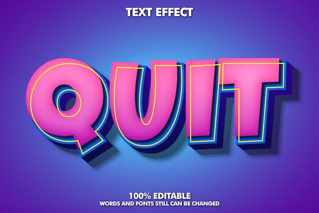 Edytowalny efekt tekstowy kreskówki 3d
