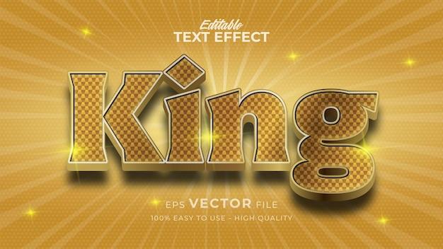 Edytowalny efekt tekstowy króla złota