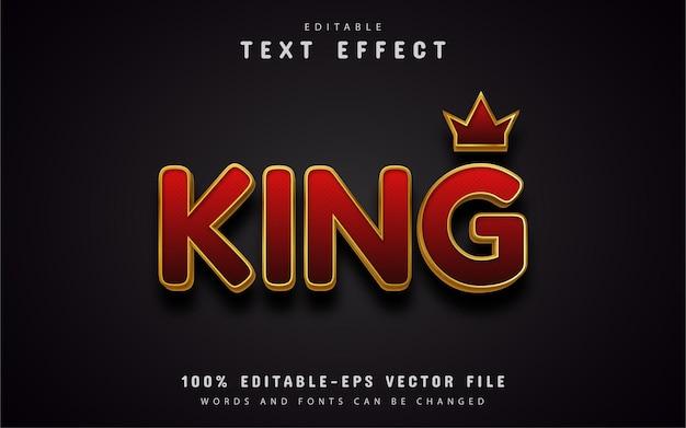 Edytowalny efekt tekstowy króla