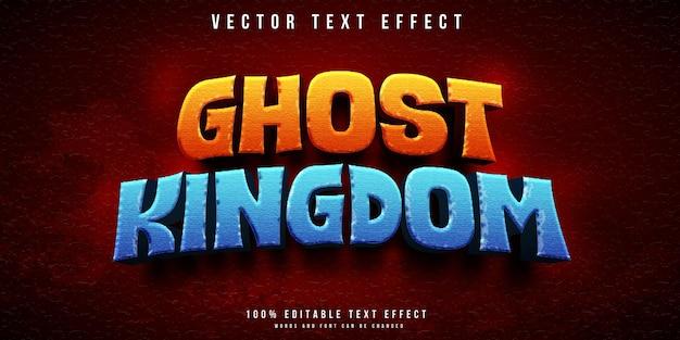 Edytowalny efekt tekstowy królestwa duchów