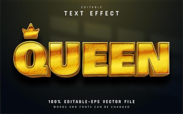 Edytowalny efekt tekstowy królowej