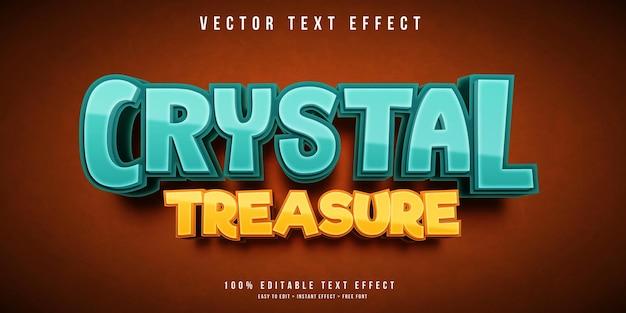 Edytowalny efekt tekstowy kryształowego skarbu
