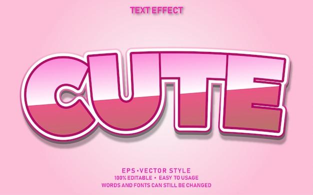 Edytowalny efekt tekstowy ładny różowy
