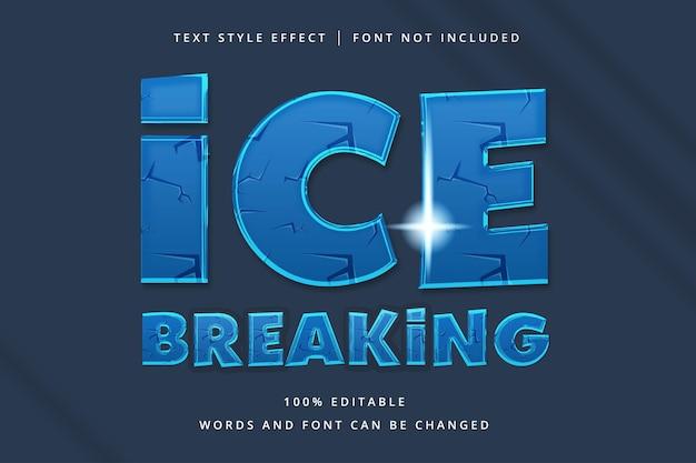 Edytowalny efekt tekstowy łamania lodu