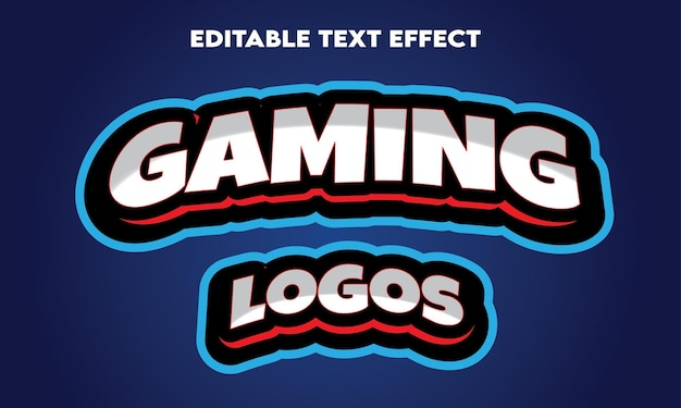 Edytowalny efekt tekstowy logo gier