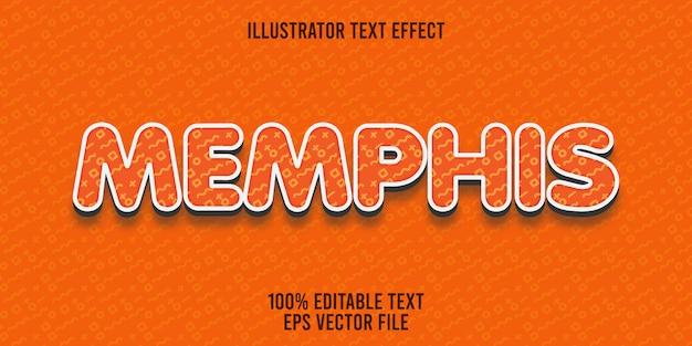 Edytowalny efekt tekstowy memphis