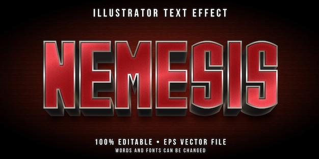 Edytowalny efekt tekstowy - metalowy styl cyborga