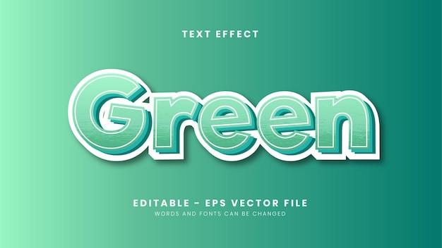 Edytowalny efekt tekstowy motywu zielonego