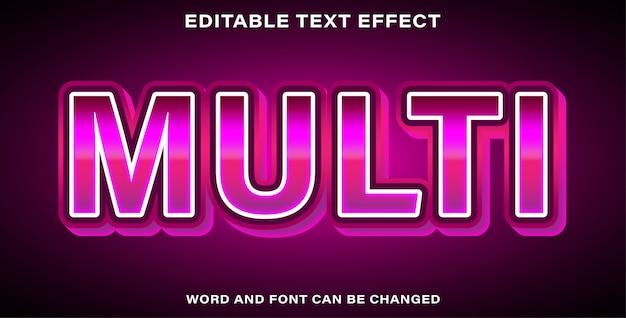 Edytowalny efekt tekstowy multi