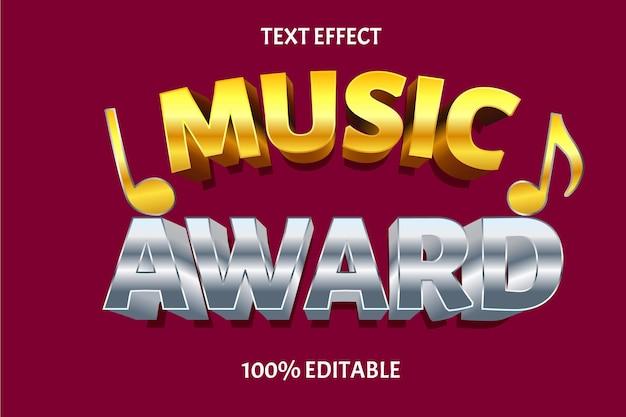 Edytowalny efekt tekstowy nagroda muzyka