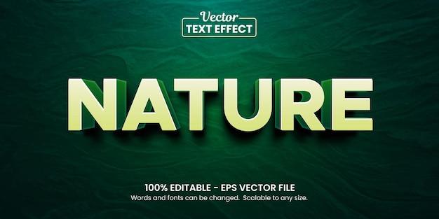 Edytowalny efekt tekstowy natury