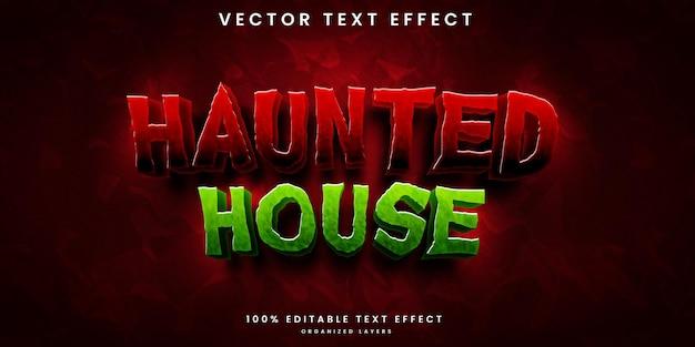 Edytowalny efekt tekstowy nawiedzonego domu
