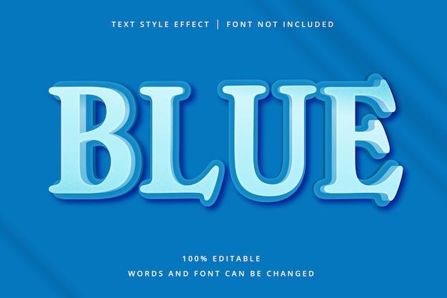 Edytowalny efekt tekstowy niebieskiego nagłówka