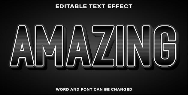 Edytowalny efekt tekstowy niesamowity