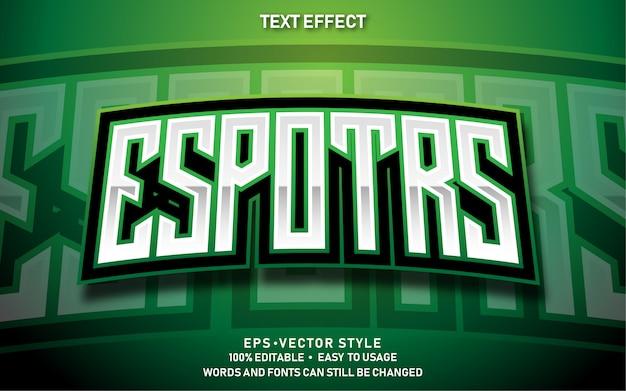 Edytowalny efekt tekstowy nowoczesny e-sport premium