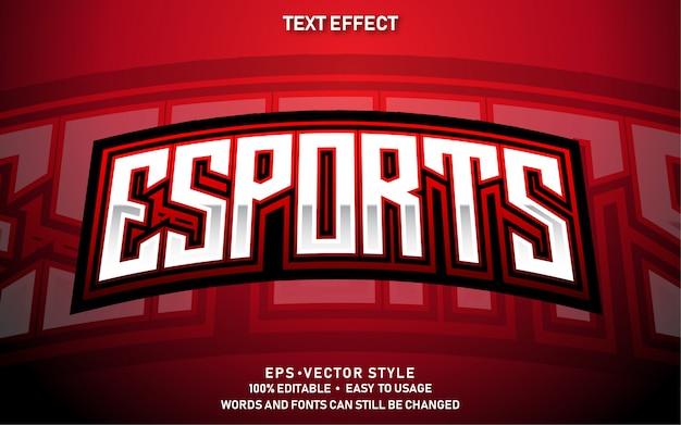 Edytowalny efekt tekstowy nowoczesny e-sport