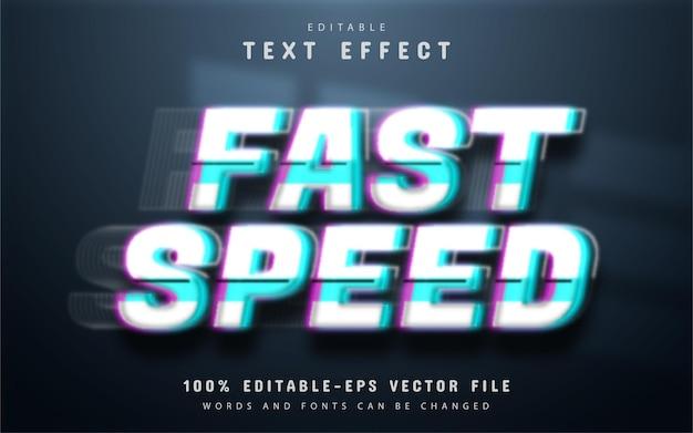 Edytowalny efekt tekstowy o dużej prędkości