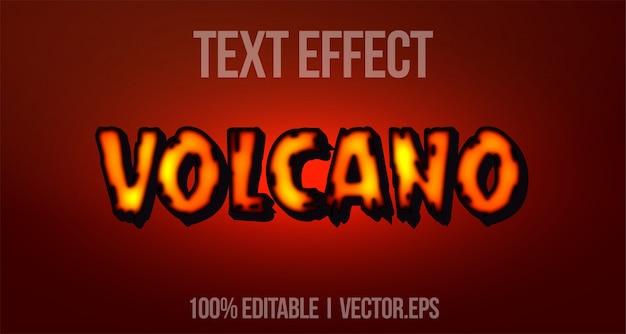 Edytowalny efekt tekstowy - odważny styl logo gry valcano 3d