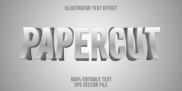 Edytowalny efekt tekstowy papercut