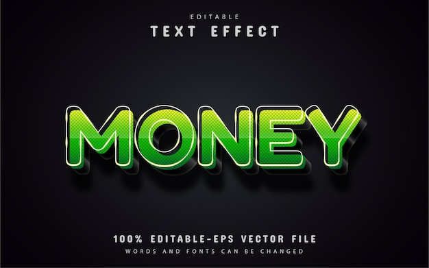 Edytowalny efekt tekstowy pieniędzy