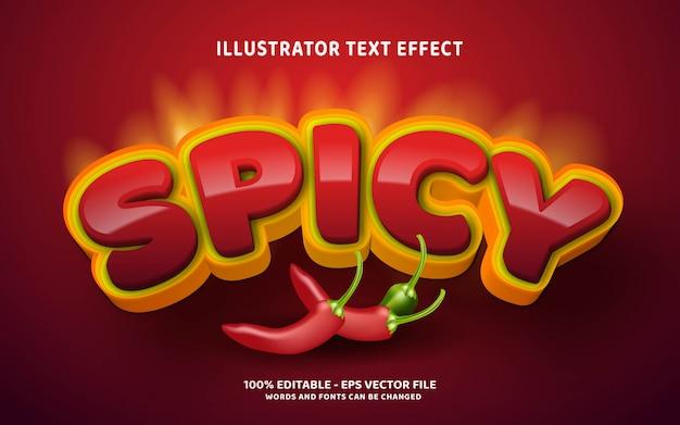 Edytowalny efekt tekstowy, pikantne ilustracje w stylu