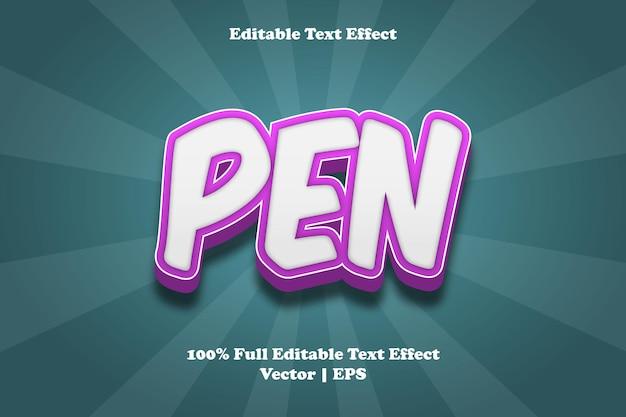 Edytowalny efekt tekstowy pióra