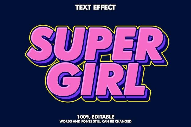 Edytowalny efekt tekstowy pop-artu, nowoczesna typografia retro