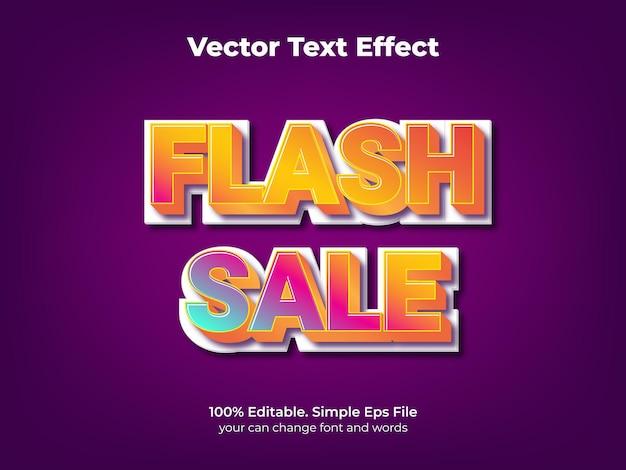Edytowalny efekt tekstowy promocji sprzedaży flash