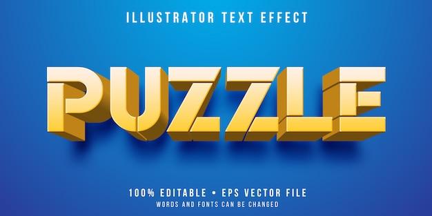 Edytowalny efekt tekstowy - puzzle w stylu labiryntu