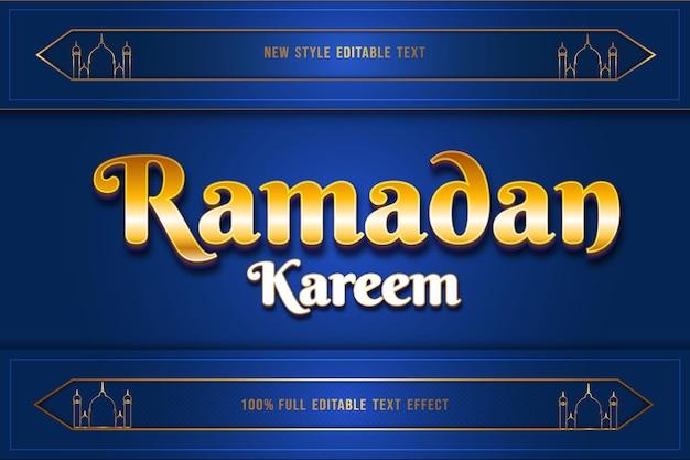 Edytowalny efekt tekstowy ramadan mubarak kolor złoty