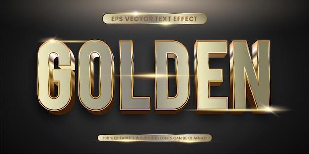 Edytowalny efekt tekstowy - realistyczna koncepcja stylu złotego tekstu