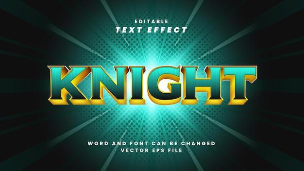 Edytowalny efekt tekstowy rycerza
