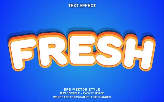 Edytowalny efekt tekstowy słodkie świeże