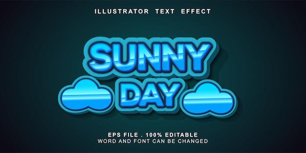 Edytowalny efekt tekstowy słoneczny dzień