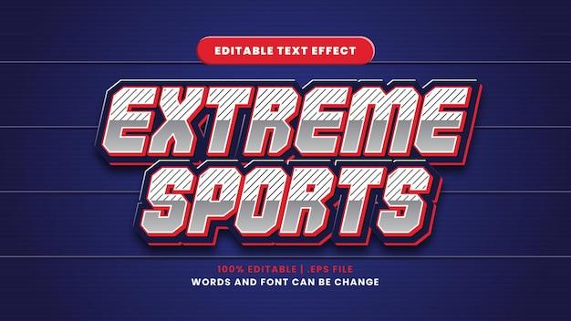Edytowalny efekt tekstowy sportów ekstremalnych w nowoczesnym stylu 3d
