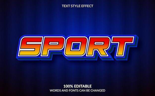Edytowalny efekt tekstowy, sportowy styl tekstu