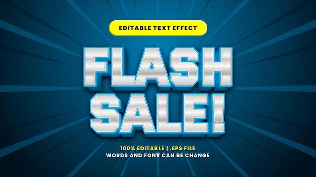 Edytowalny efekt tekstowy sprzedaży flash w nowoczesnym stylu 3d