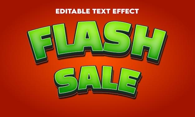 Edytowalny efekt tekstowy sprzedaży flash
