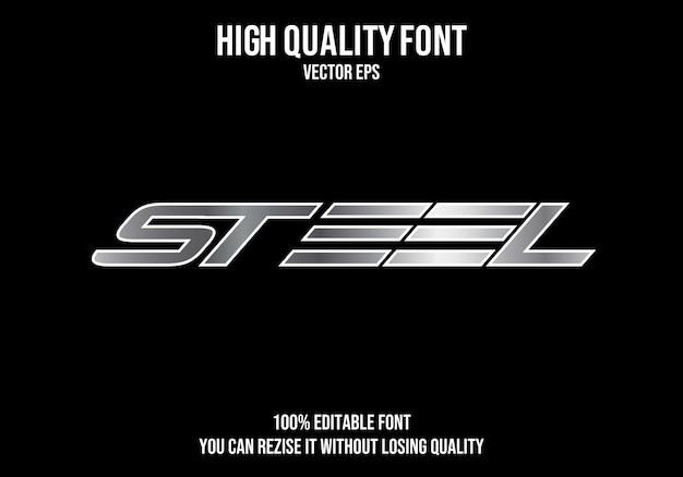 Edytowalny efekt tekstowy stali